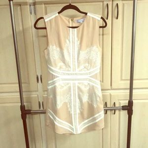 Women's Endless Rose Nude & White Lace Dress